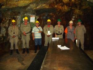 visita à mineração tanguá com comandantes do GBS, Area de niterói, S. Gonçalo e Magé
