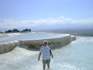 piscinas de CaCO3 em Pamukkale