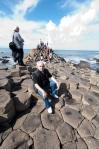 Calçada dos Gigantes no Norte da Irlanda do Norte