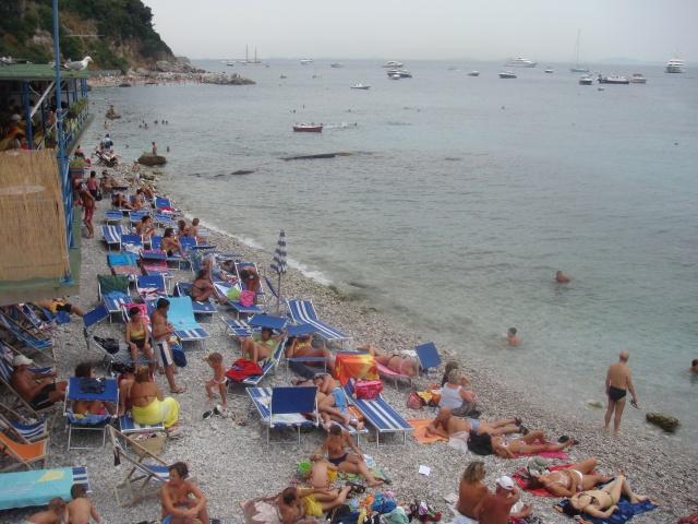 Praia da ilha de Capri